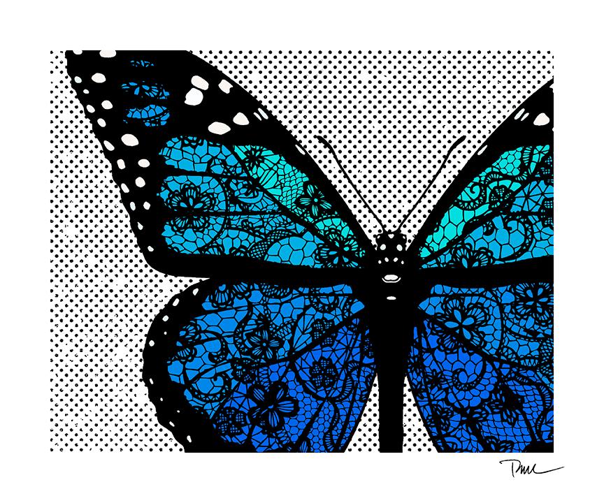 Lace Blue Monarch
