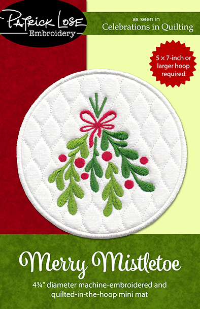 Merry Mistletoe coaster