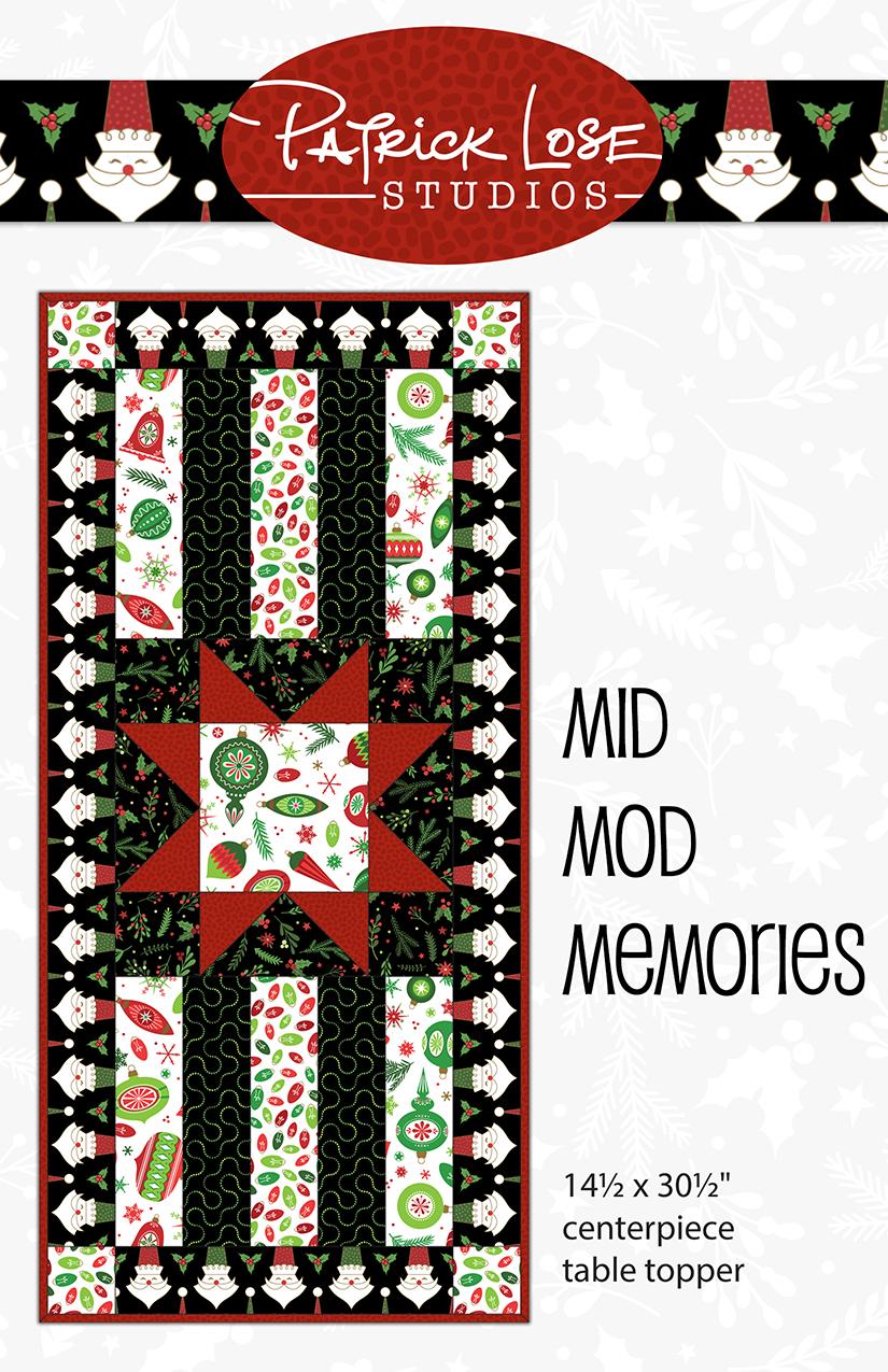 Mid Mod Memories centerpiece table topper