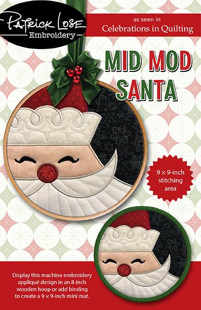 Mid Mod Santa round