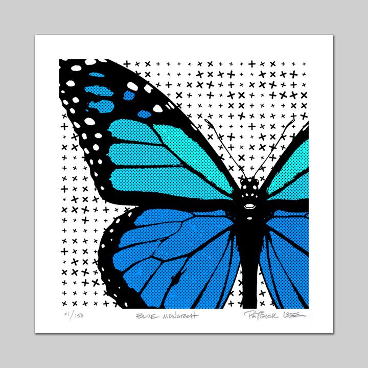 Blue Monarch signed/numbered