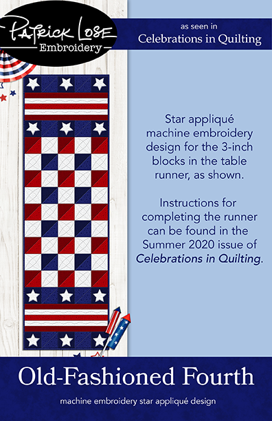 Old Fashioned Fourth star applique