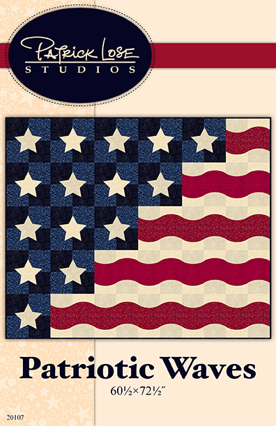 Patriotic Waves throw quilt kit