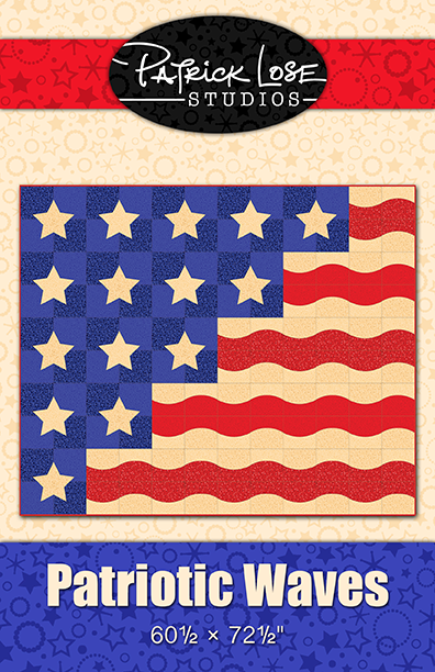 Patriotic Waves digital pattern