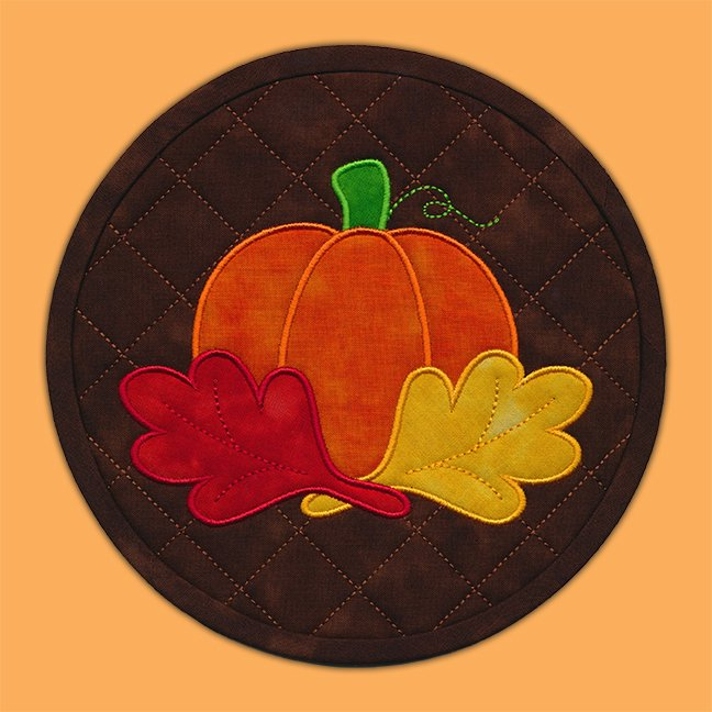 Pumpkin Patch quilted mat