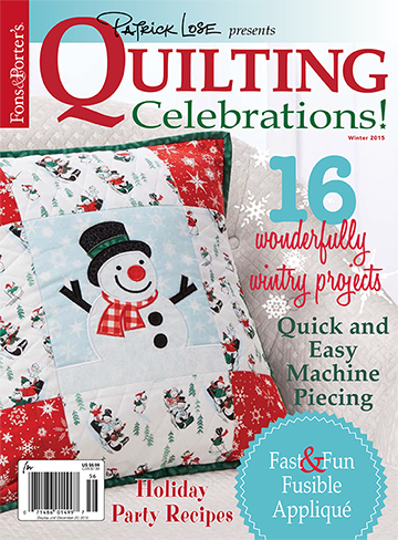 Quilting Celebrations Winter 2015 - OUT OF PRINT