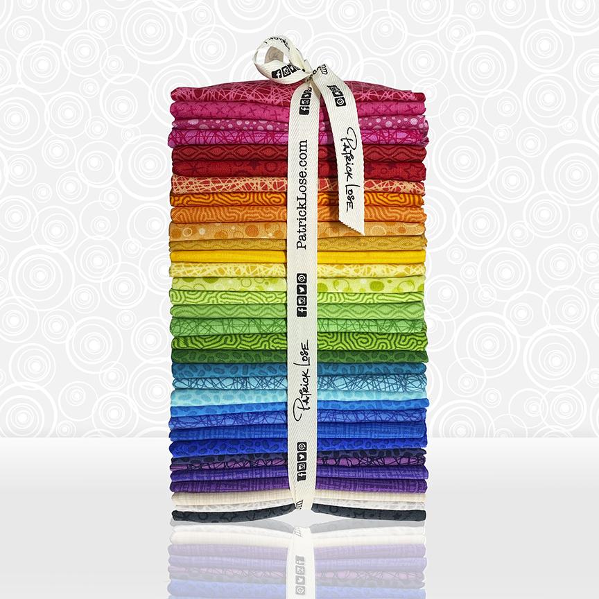 33 pc. Quilter's Rainbow Bundle of Fun