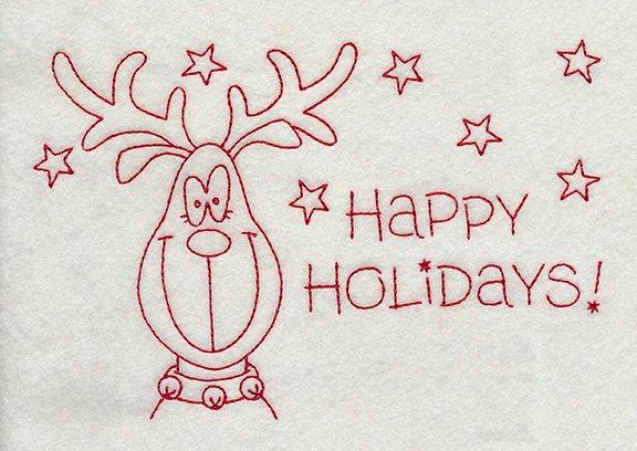 Redwork Rudolph