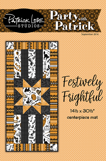 Festively Frightful table topper digital pattern