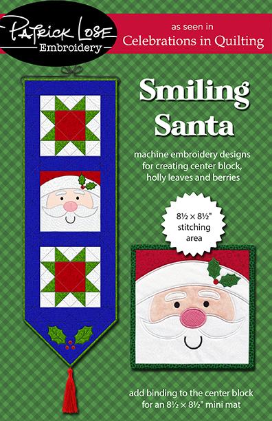 Smiling Santa banner or mini mat