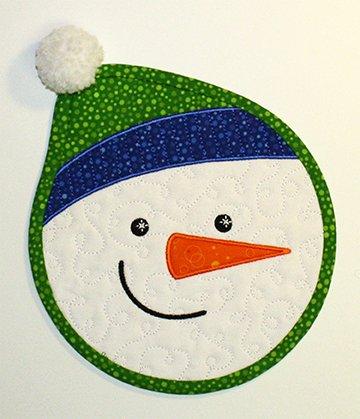Jolly Snowman mug mat