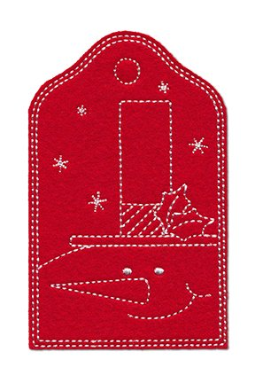 Redwork Christmas Gift Tags 2