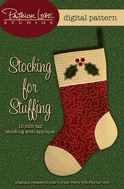 Stocking for Stuffing digital pattern