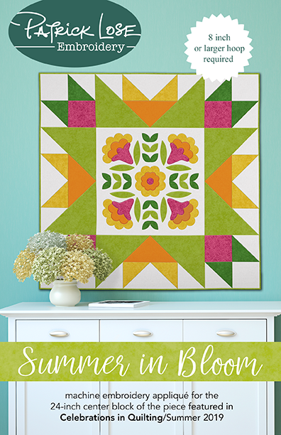Summer in Bloom 24 inch applique block