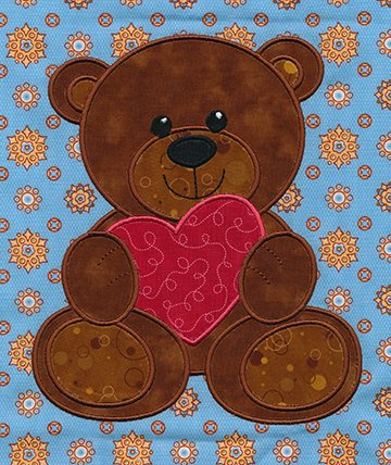 Hugs & Kisses Teddy applique