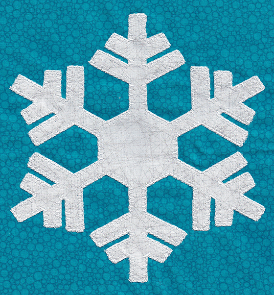 Winter Whimsy applique snowflake
