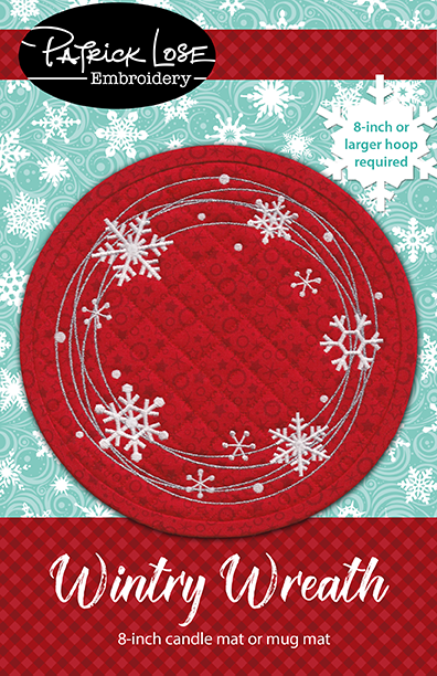 Wintry Wreath candle mat