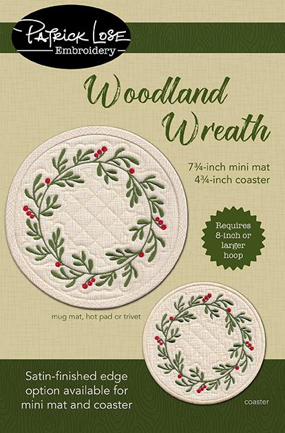 Woodland Wreath mini mat and coaster