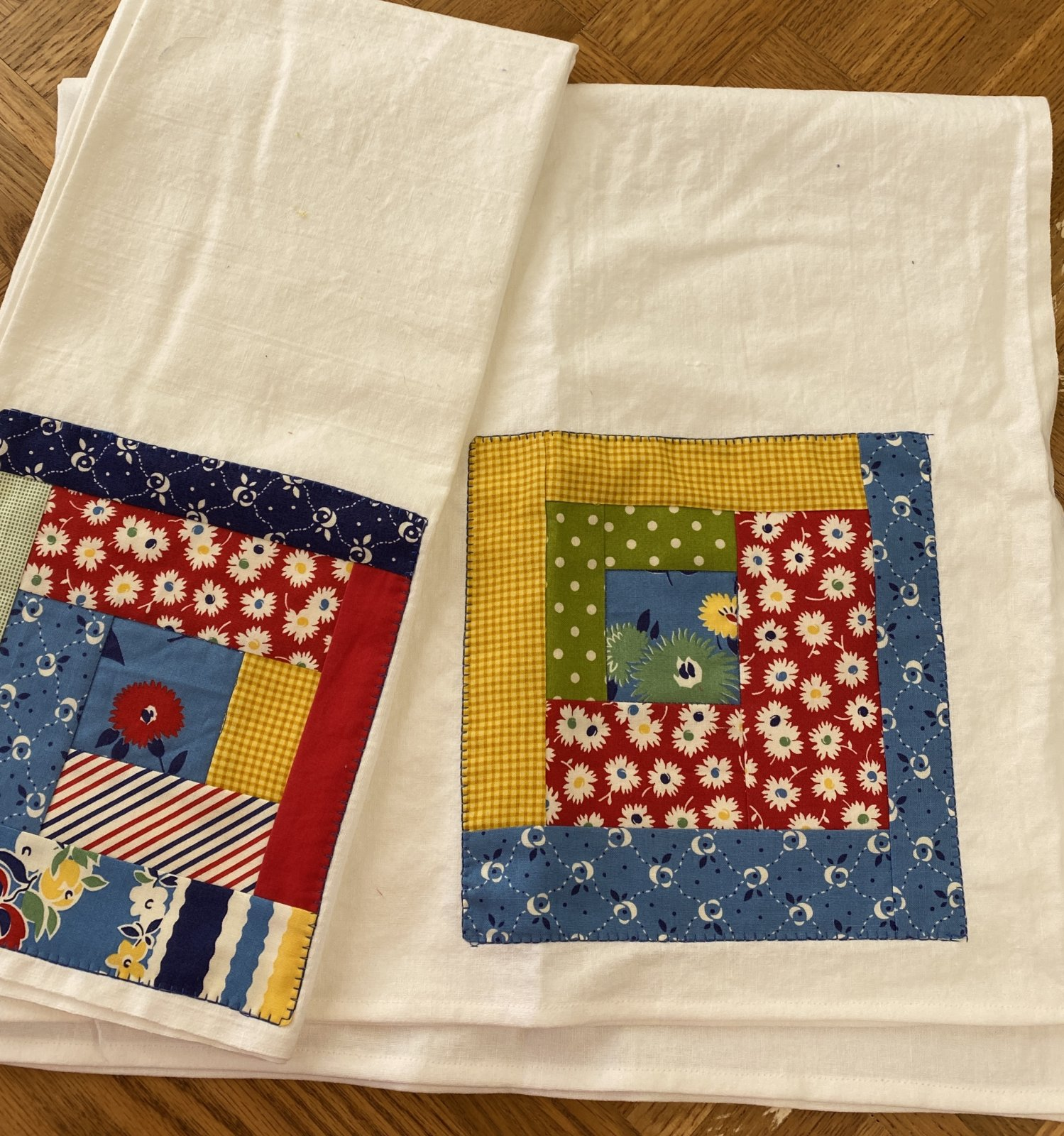 Log Cabin Flour sack dishtowel  Kit