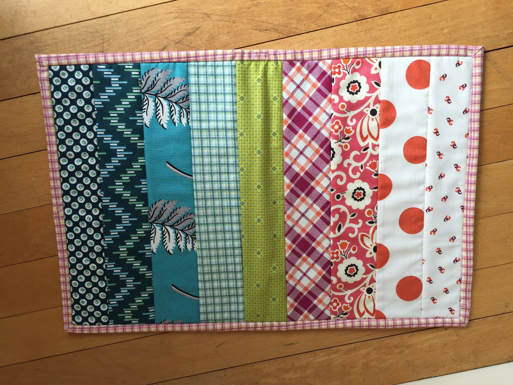 Quilt As You Go Qayg Placemat