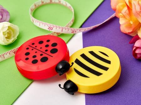 Bee and Ladybug Tape Measure 20 Pc Display