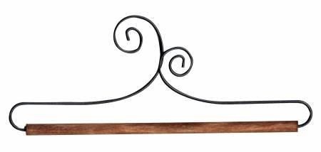 6in Double Scroll Holder With Dowel