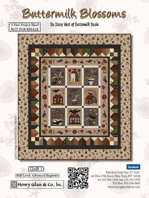 Buttermilk Blossom Quilt Kit