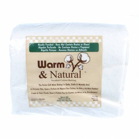 Warm & Natural Cotton Batting 120x 124