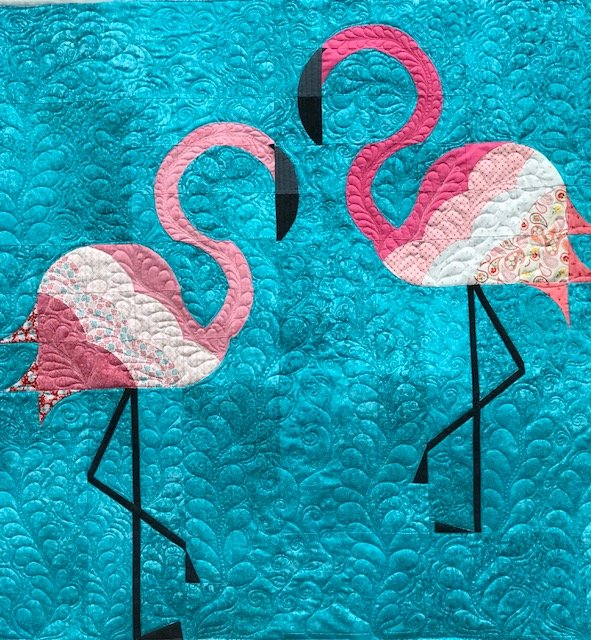 Mod Flamingos Fabric Kit