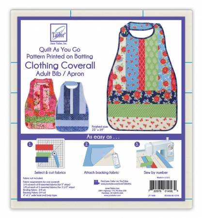 Quilt As You Go Coverall Adult Bib