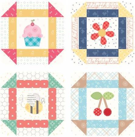 Lori Holt Bee Happy Coaster Set 4pc