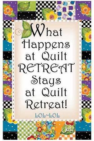 Quilt Retreat Magnet