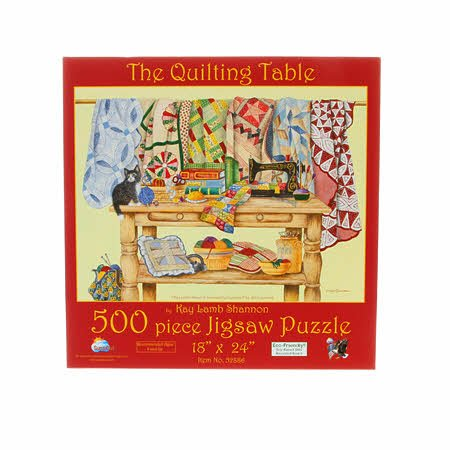 The Quilting Table 500pc puzzle