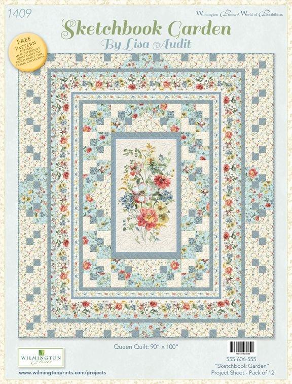 Sketchbook Garden Queen Quilt