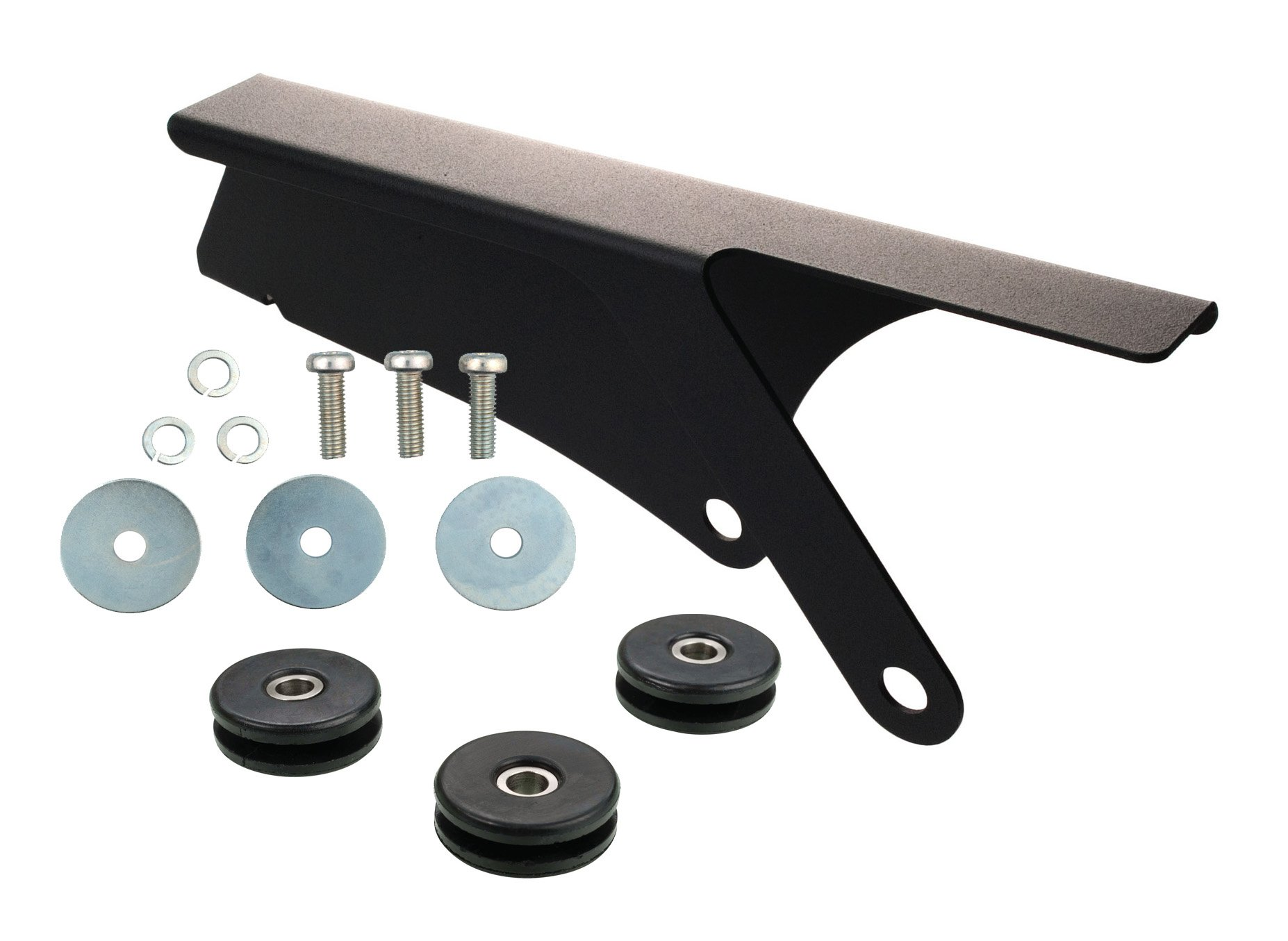 Mini Chain Guard With Mounting Hardware -  Matt Black Aluminum Anodized 3-105