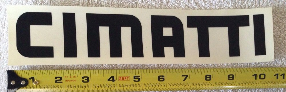 CIMATTI ITALY MOTOCROSS DECAL VINTAGE ARHMA STYLE FLATTRACK COOL BADGE B-063