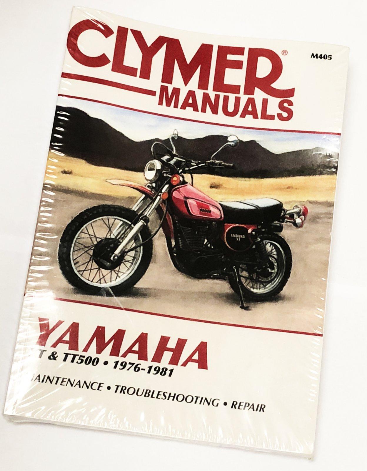 Yamaha XT500 TT500 1976-1981 CLYMER Repair Manual 1-117