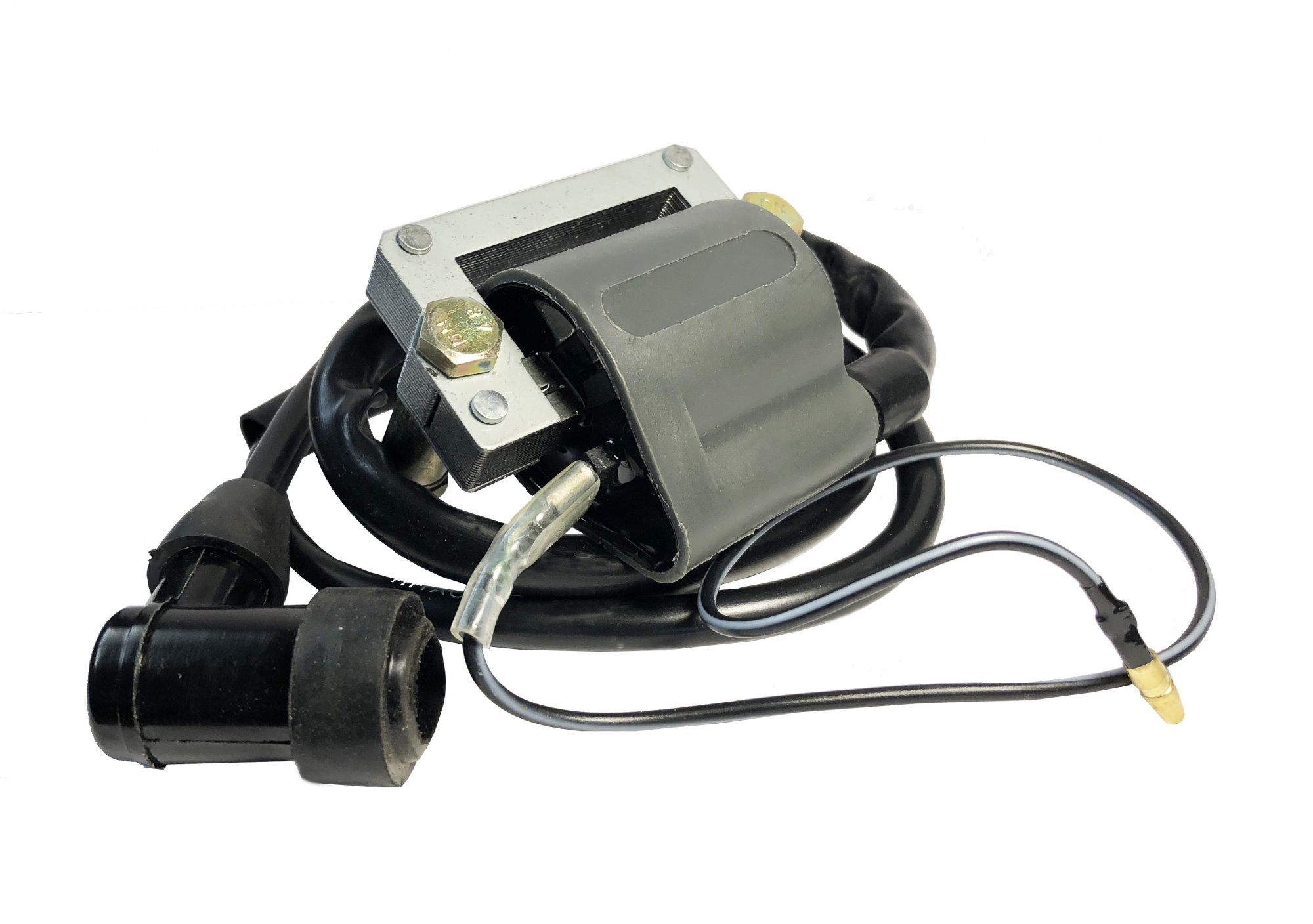 Yamaha 1976-1981 TT500 & 1976-1979 XT500 High Output (6V or 12V) Ignition Coil Assembly Replica with Cap 26-024