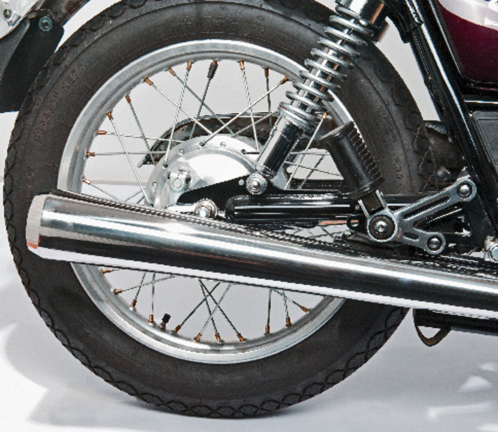 Yamaha SR500 Stainless Steel Silencer (shape similar to OEM without expansion tank) 29206