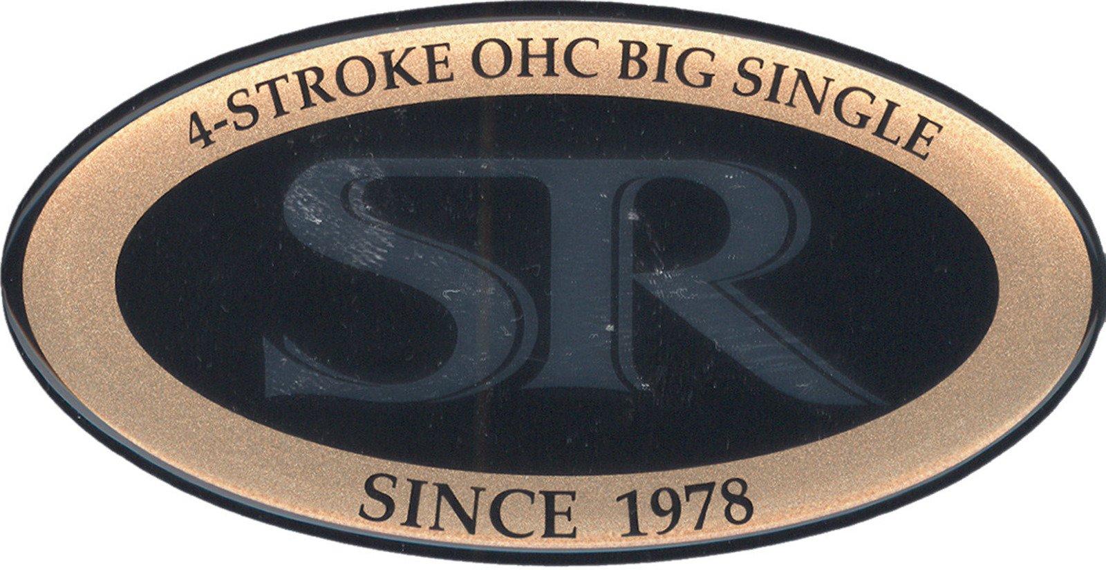 Yamaha SR500 SR 4-Stroke OHC Big Single Since 1978Gold Chrome and Black Sticker Decal 29317