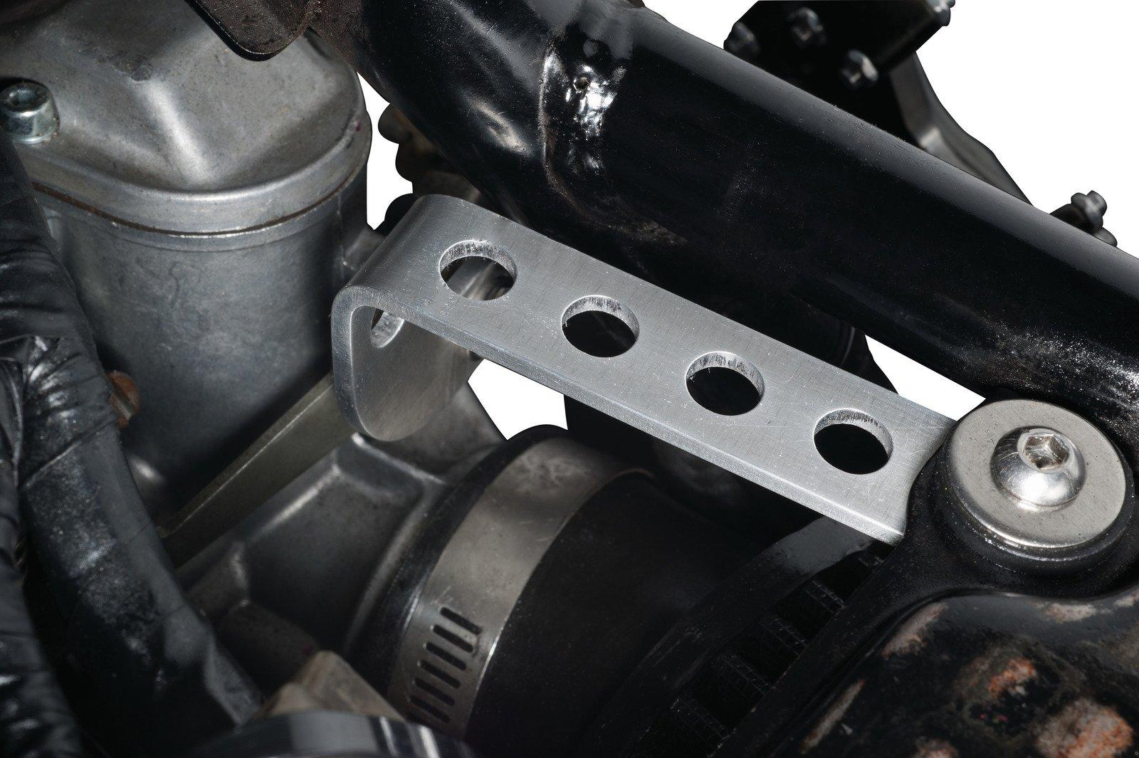 Stainless Steel Complete Carburetor Frame Mounting Kit for Yamaha SR500 VM34SS Carburetor and K&N Air Filter; Rubber-Cushioned