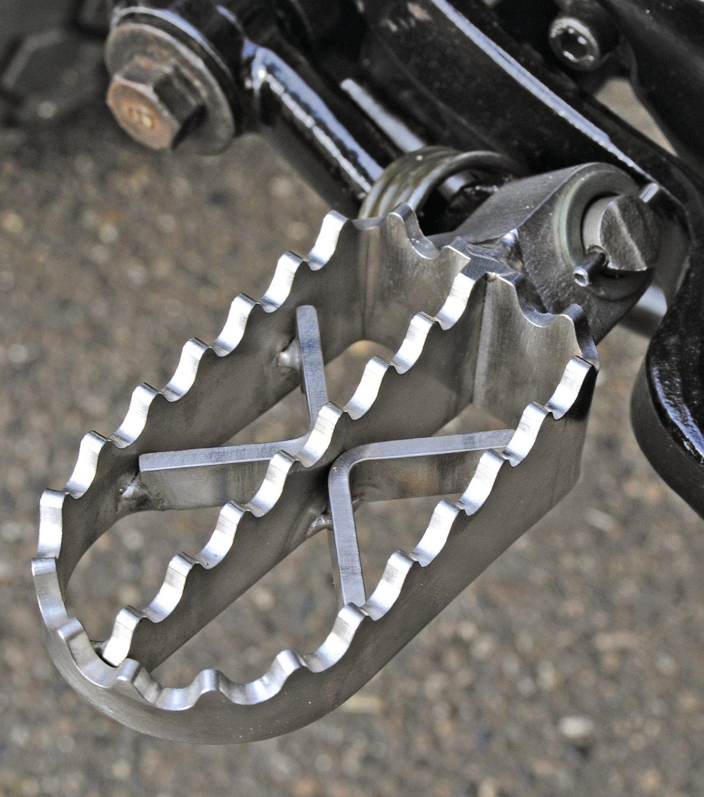 Stainless Steel Broadened Foot Peg Set For Yamaha XT500 TT500 1-010