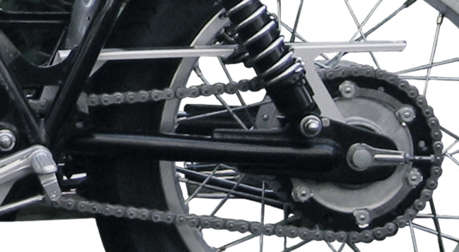Yamaha SR400 & SR500 Mini-Chainguard Matt Black w/ Mounting Hardware 30961S