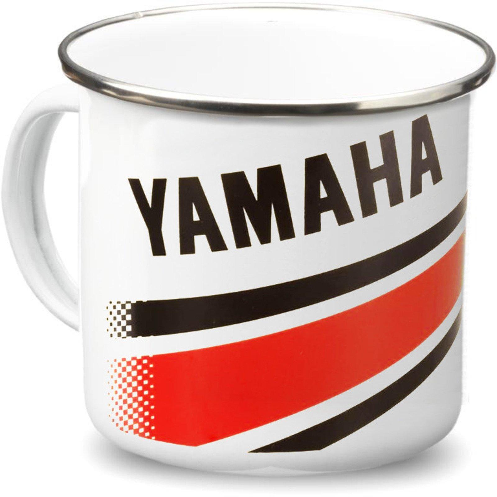 Yamaha Enamel Tin Mug 'Revs your Heart' 250ml  40661