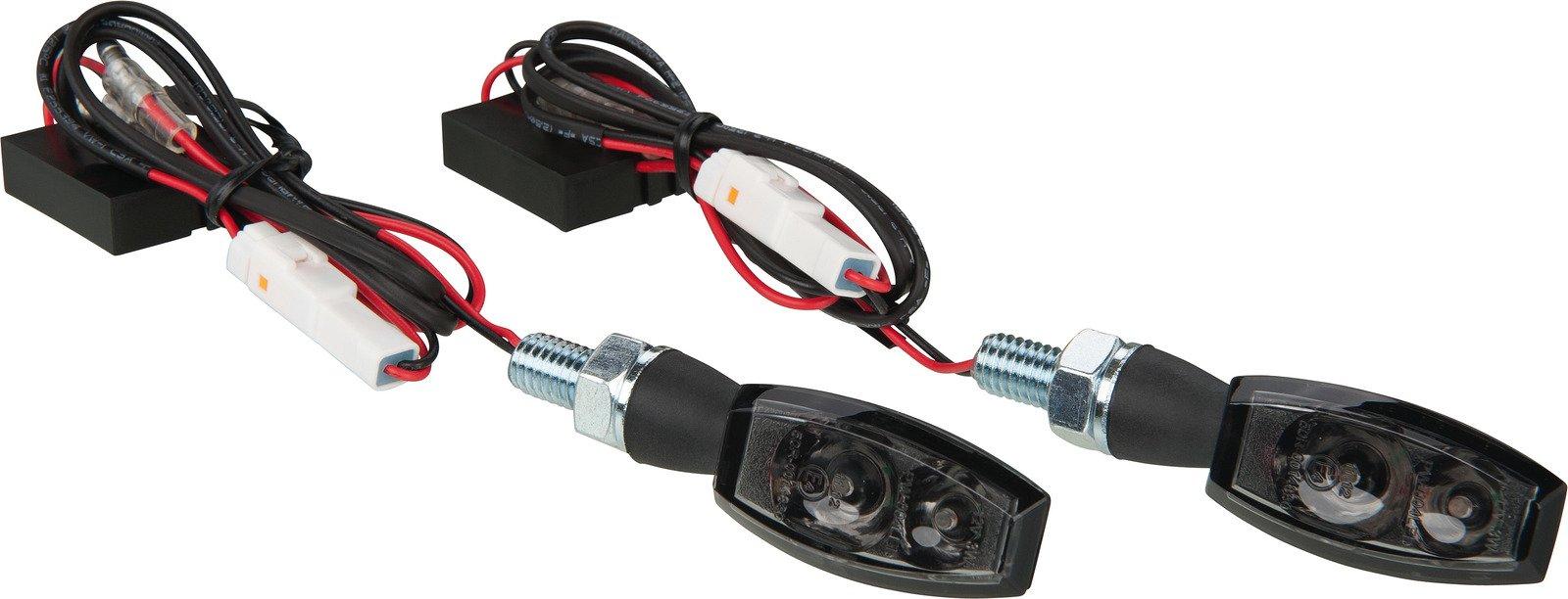 LED Turn Signals; Black Blaze Smoked Lens Type 41085