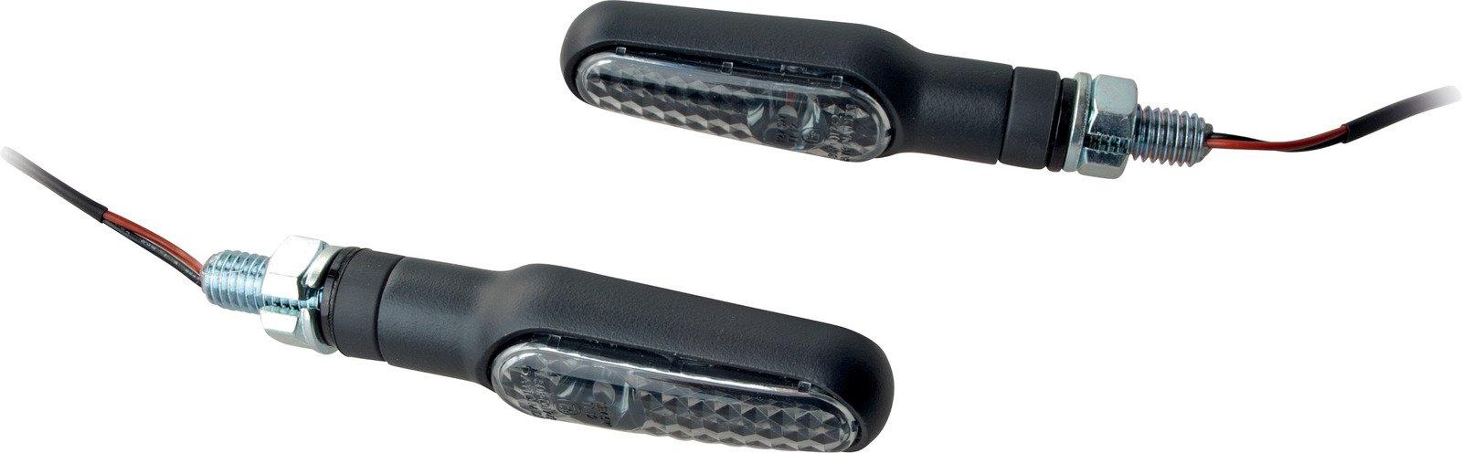 Front or Rear Daytona Black Metal LED R/H & L/H Turn Signal Set