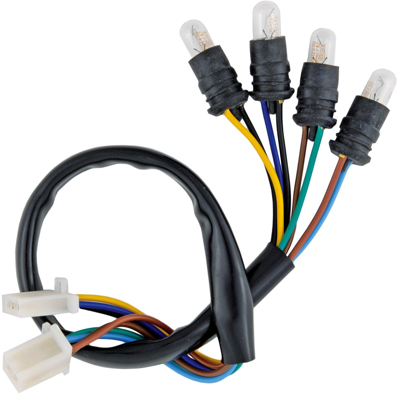 Yamaha Xt500 Sr500 Tachometer Wiring Harness Loom W 6v 3w Bulbs 01 041