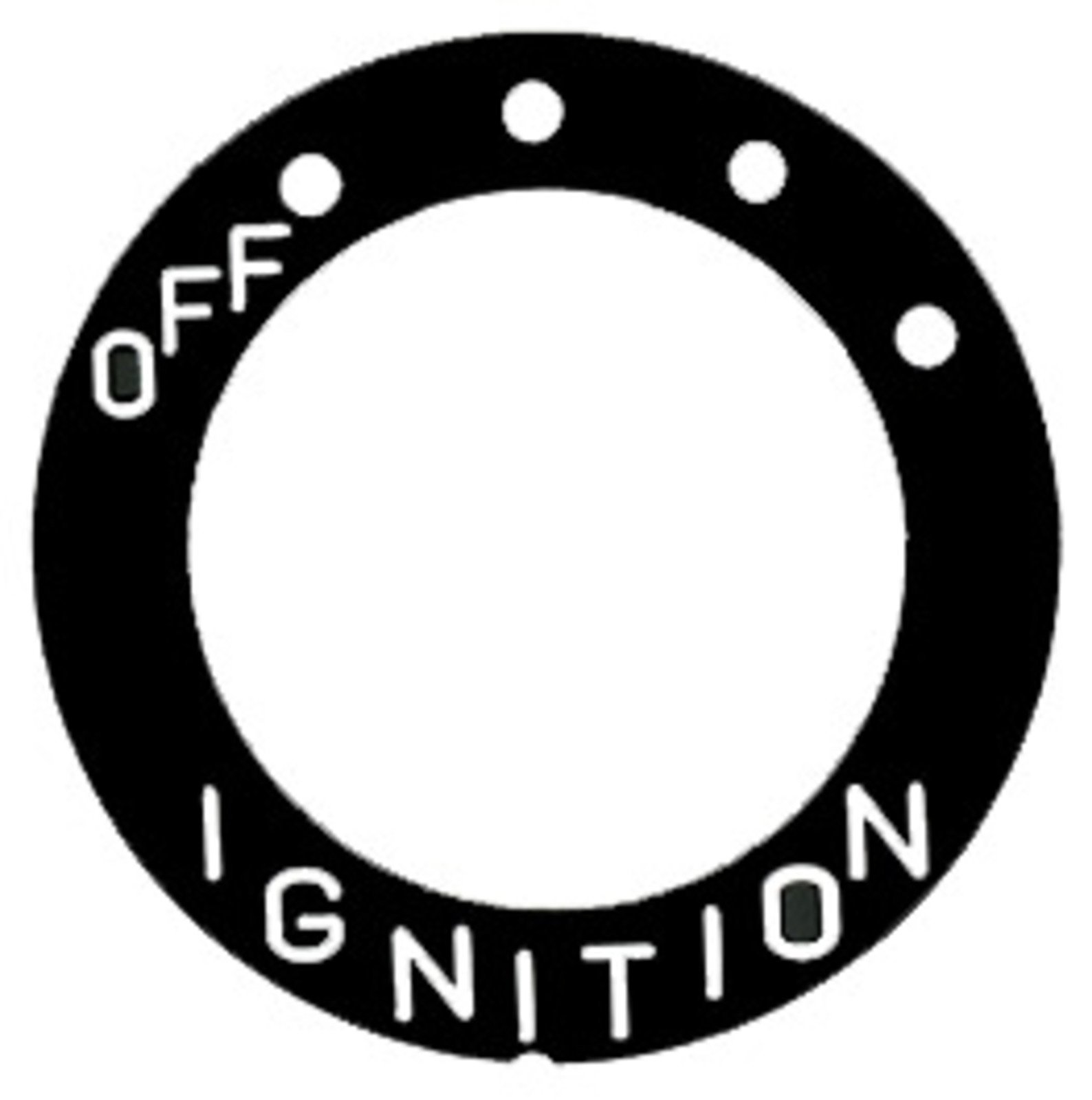 Yamaha Ignition Switch Label for 4-Position Main Switch (Universal) Decal 29-185