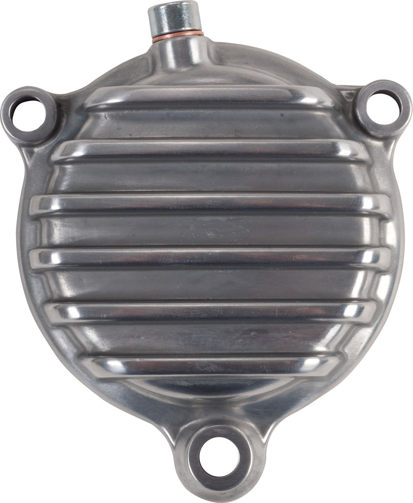Yamaha SR400 SR500 TT500 XT500 Silver Vi-Race Oil Filter Cover with Cooling Fins, Aluminium polished 50273