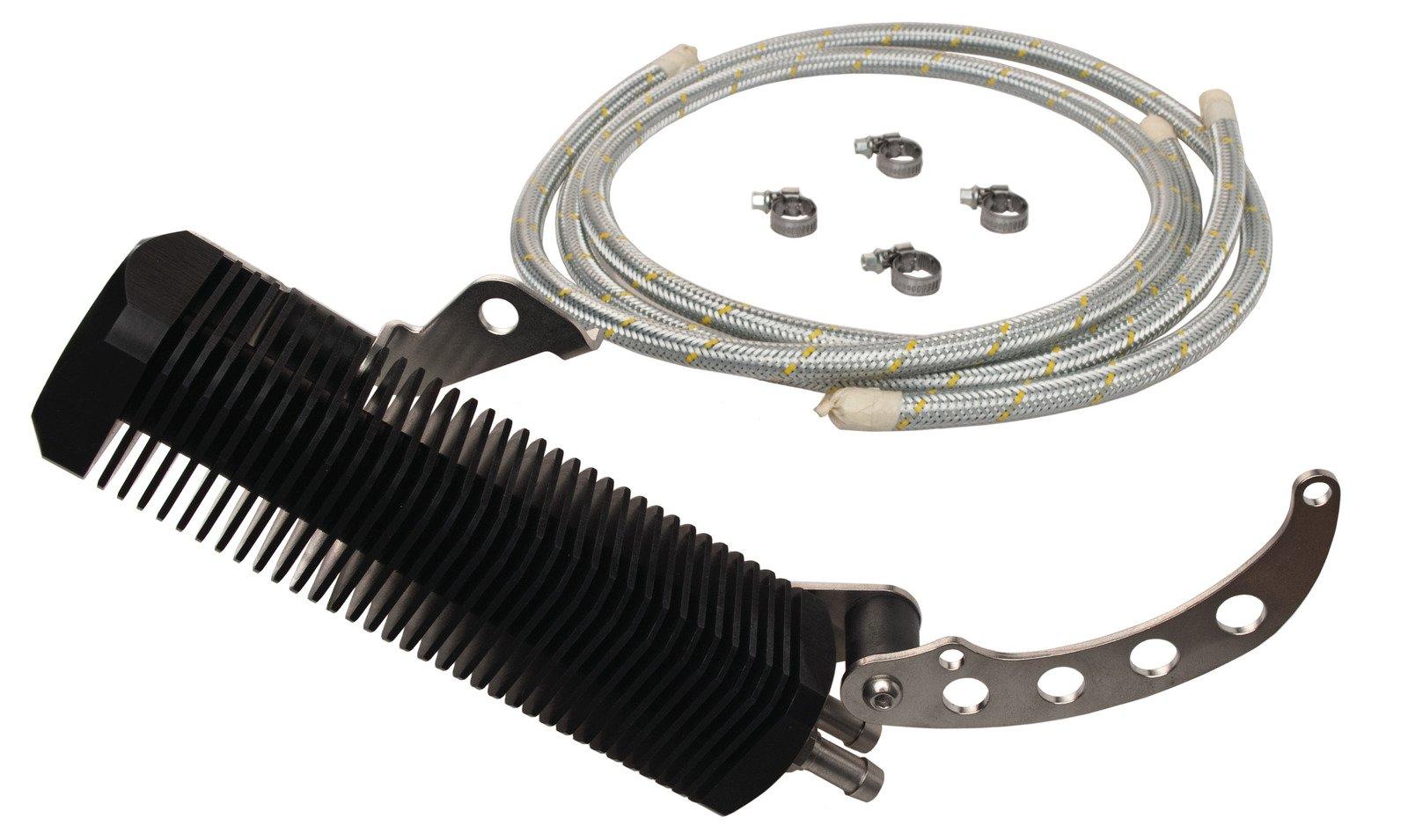Yamaha SR500 TT500 & XT500 Complete Oil Cooler Kit; Billet Aluminum 26-010